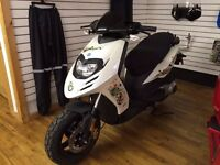 White Piaggio Typhoon Scooter 50cc derestricted fresh MOT