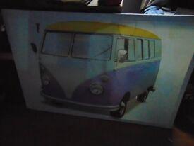 VW Split Screen Camper Picture, New