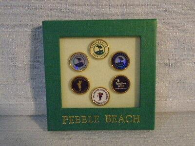 Pebble Beach Golf Links Spanish Bay Spyglass Hill Del Monte Ball Marks Set of 6