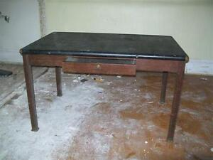 Steel table/desk with drawer
