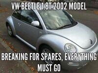 2002 VW Beetle 1.8T Breaking for spares