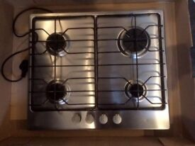 Gas Hob, Electrolux, stainless steel