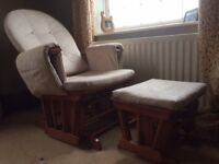 Glider/rocking chair with stool