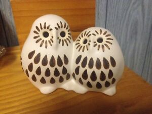 Stawberry Hill Pottery owls
