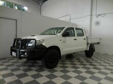 2011 Toyota Hilux KUN26R Workmate White 4 Speed Automatic Dual Cab Burleigh Heads Gold Coast South Preview