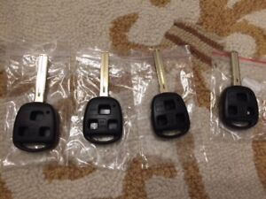 Brand New Blank Lexus Key with shell Long blade or Short Blade