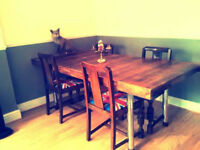 SOLID OAK DINING TABLE`