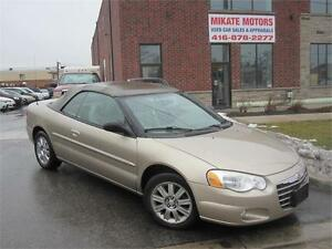 Sporty 2004 Chrysler Sebring Limited, Fully Certified & E-Tested