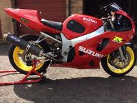 suzuki gsxr 600 track/roadbike