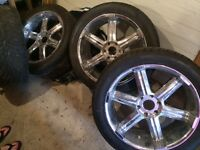 """Cadillac 22"""" Rims with Tires"""