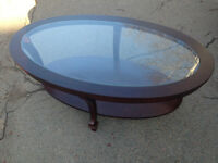 Coffee Table Glass Top From Bowring Oval Shape