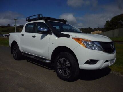 2014 Mazda BT-50 UP0YF1 XT White 6 Speed Manual Utility