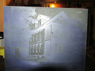 Old Metal Printing Plate St. Louis De France Parish Building Lowell Mass