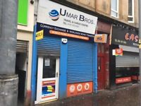 Shop to let on Allison Street in Govanhill – Available Now