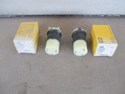 2 NIB NEW HUBBELL TWIST LOCK  ELECTRICAL PLUG INDUSTRIAL HEAVY DUTY HBL 2313 Hubbell Electrical Plugs