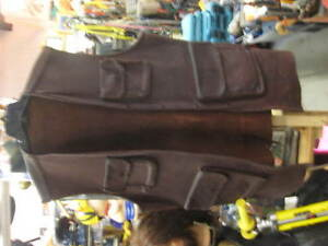 Handmade Heavy Leather 4 Pocket Vest 42 Long,