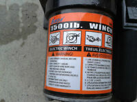 BADA 1500 lb 12 volt winch with remote in excellent condition