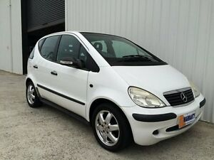 2003 Mercedes-Benz A160 W168 MY03.5 Classic White 5 Speed Automatic Hatchback Parkwood Gold Coast City Preview