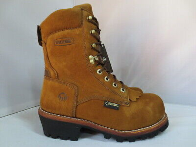 1c47533402a Wolverine Mens Steel Toe 6 Work Boot Brown Size 10 EW Multishox ...