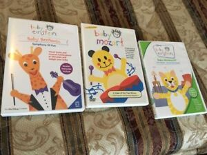 EDUCATIONAL DVDs BABY EINSTEIN $10 for SET of 3 DVDS.