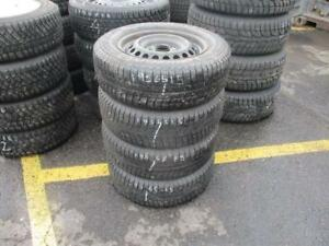 195/65 R15 MICHELIN WINTER TIRES ON HONDA CIVIC RIMS USED SNOW TIRES (SET OF 4) - APPROX. 85% TREAD