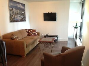 2 BEDROOM+DEN(LIKE 3RD BDRM),FURNISHED,UPSCALE BUILDING,DOWNTOWN