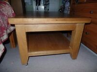 for sale. solid oak coffee table.