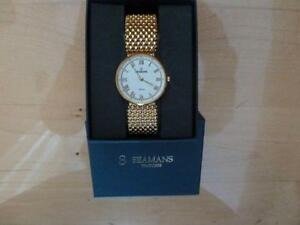 Gold plated Seamans swiss watch