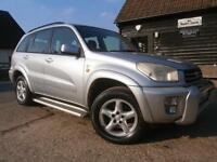 02 TOYOTA RAV4 2.0VVT VX 4X4 AUTOMATIC ESTATE/WAGON 87K SILVER BLACK LEATHER 5DR