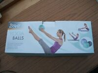 Yoga Balls - Pack of 3 Inflatable balls (18/22/26cm) by Crevit Sports