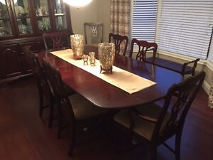 Classic Solid Cherrywood Table & Buffet/Hutch & Sideboard Set
