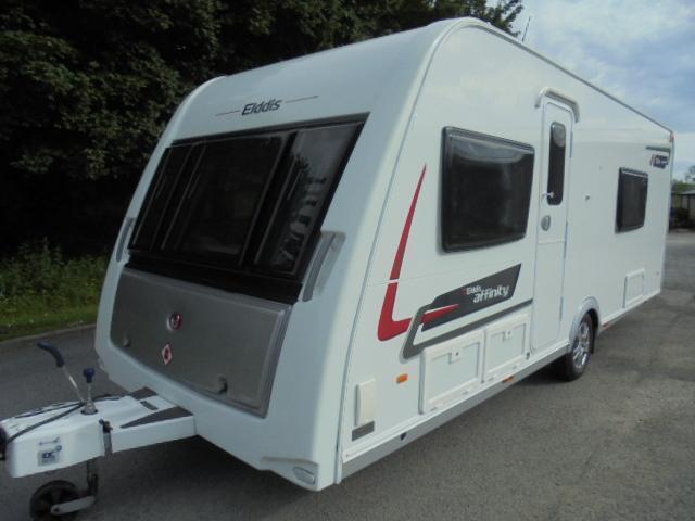 2014 Elddis Affinity 574 4 Berth Caravan For Sale. 2 Fixed Single Beds.