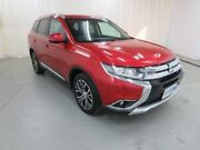 2016 Mitsubishi Outlander ZK MY17 LS 4WD Red 6 Speed Constant Variable Wagon Glebe Hobart City Preview