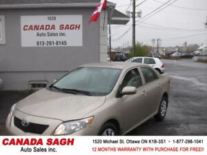 2010 Toyota Corolla, CRUISE, AUTO, 12 M WRTY+SAFETY ONLY $6990
