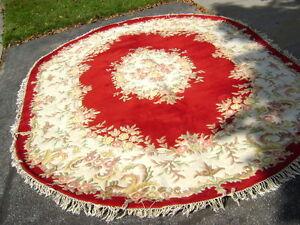 Oval  Woollen Area Rug - Size 12 feet x 9 feet