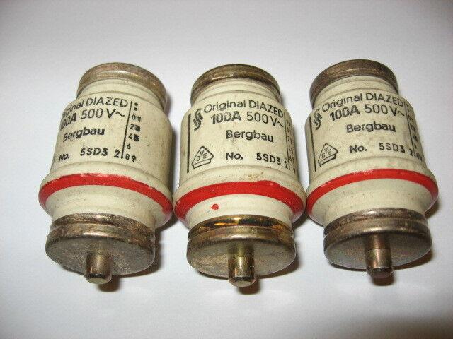 Lot of 3 Original Diazed 5SD3 2 Fuses 5SD32