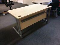 1400mm desks in maple-12 in stock