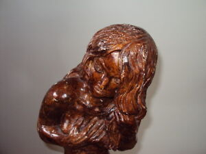 STATUE/ BROWN PORCELAIN/CLAY?