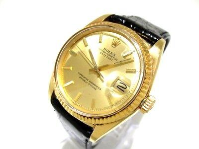 Auth ROLEX Datejust 16018 18K Yellow Gold Men