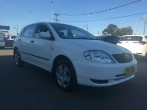 2003 Toyota Corolla ZZE122R Ascent White Automatic Hatchback Lansvale Liverpool Area Preview