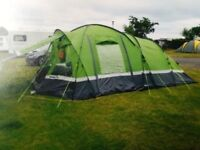 Hi Gear Elite voyager 6 tent + footprint ground sheet + Hi gear carpet. * immaculate condition *