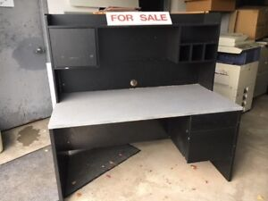 5 matching desks with hutches for sale