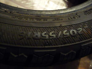 4 XTreme Avalanche 205-55-16 Winter Tires 85-90% Tread Like New