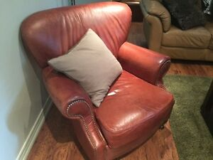 Brown Leather Men's Smoking chair. - Non-smoking home