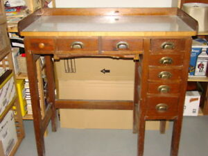 Antique Jewelers' Watchmakers' Desk from Birks Vancouver