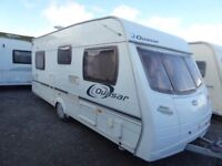 Lunar Quasar EB 4 berth fixed bed light weight tourer,motor mover