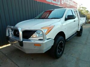 2012 Mazda BT-50 UP0YF1 XT Freestyle White 6 Speed Manual Cab Chassis Blair Athol Port Adelaide Area Preview