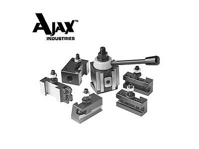 Tool Post Set 5 Holders Piston Axa Upto 12 Lathe Swing