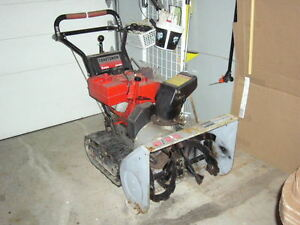 Craftsman 8 HP , 25 inch wide snowblower. Track drive.