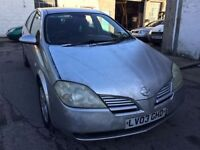 2003 Nissan Primera diesel, starts and drives, MOT until January 2017, car located in Gravesend Kent